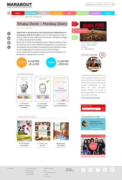 Page livre du site des éditions Marabout
