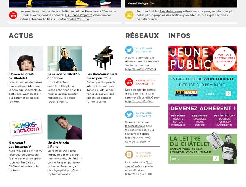 Homepage, éditorial et réseaux sociaux